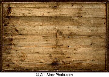 wooden keret, háttér
