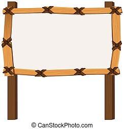 wooden keret, white, háttér