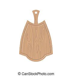 Wooden kitchen board. Kitchen utensils for Cutting food