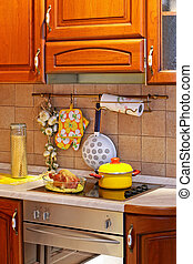 Wooden kitchen stove