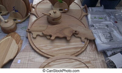 wooden kitchen tools in market