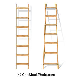 Wooden ladder - Vector illustration of a wooden ladder
