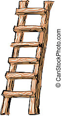 Wooden Ladder Stock Illustrations 1545 Clip Art