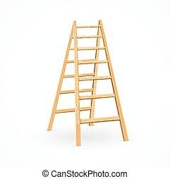 Wooden Ladder. Vector