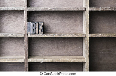 Wooden Letter .biz - old wooden printers type forming the...