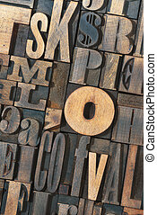 wooden letters mix