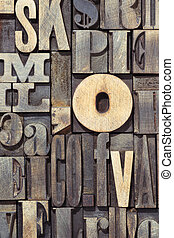 wooden letters vertical