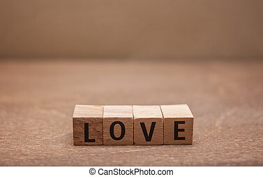 wooden letters word love