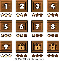 Wooden level selection 2