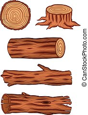 Wooden log collection