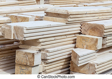 Wooden log - construction site