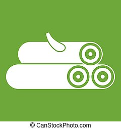 Wooden logs icon green
