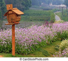 wooden mailbox at Doi Angkang, Chiangmai, Thailand