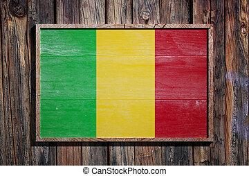 Wooden Mali flag