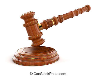 Wooden Mallet - 3d wooden mallet. Image with clipping path