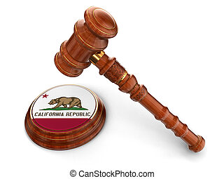 Wooden Mallet, flag Of California