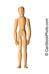 Wooden mannequin isolated