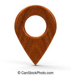 Wooden map pointer