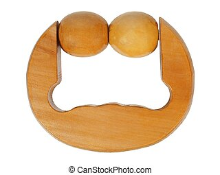 Wooden massager on white
