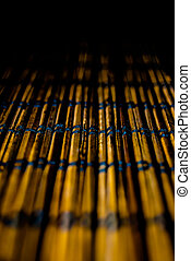wooden mat, macro