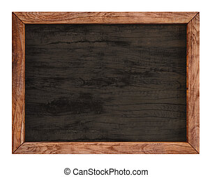 board - wooden menu board. isolated on white.