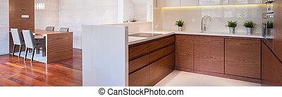 Wooden modern interior