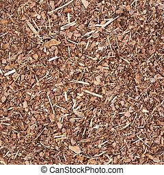 Wooden mulch ground fragment - Wooden mulch ground's...