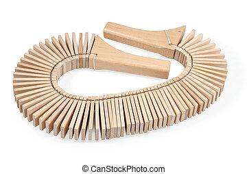 Wooden musical ratchet