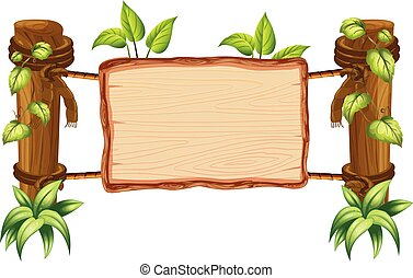 Wooden nature blank board