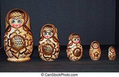 Nesting Dolls - Wooden Nesting Dolls