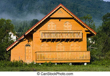 Wooden new house