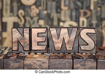 wooden NEWS concept