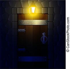 wooden nightly door
