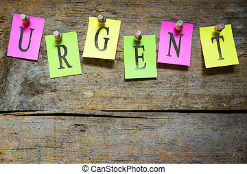 notice board with the word urgent