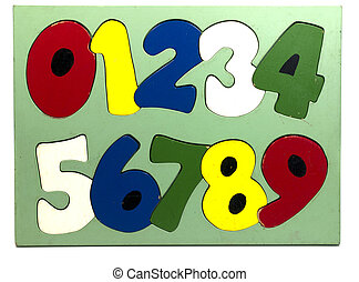 wooden numbers puzzle for school education