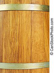 Wooden oak barrel, isolated on white background