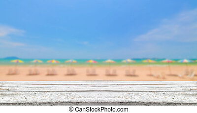 wooden on beach