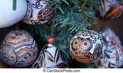 Wooden ornamental handmade mexican decor. Indigenous ...