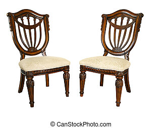 wooden ornate chairs