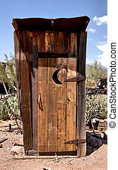 wooden outhouse - old wooden outhouse