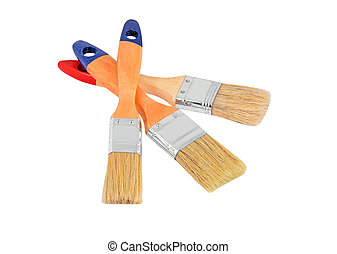 Wooden paint brush