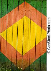 wooden painted door background