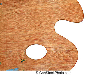 wooden palette on white background