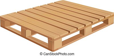 Wooden Pallet - American wooden pallet in perspective.
