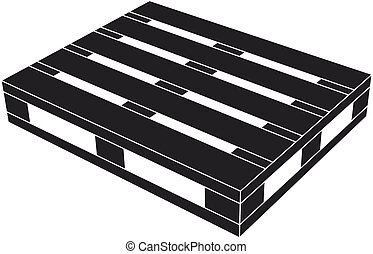 wooden pallet black symbol - illustration for the web