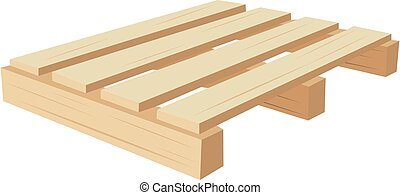 wooden pallet for material transport