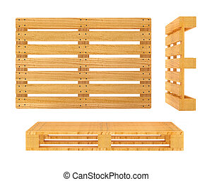 Wooden pallet isolated on white background - Wooden pallet....