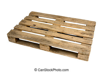 Wooden pallet - Old dirty wooden pallet