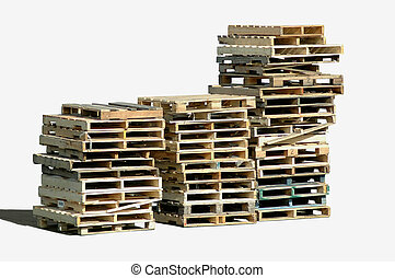 Wooden Pallets - Piles of wooden pallets