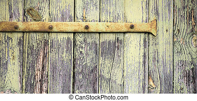 Wooden panel, board banner - Rough old empty wooden board -...
